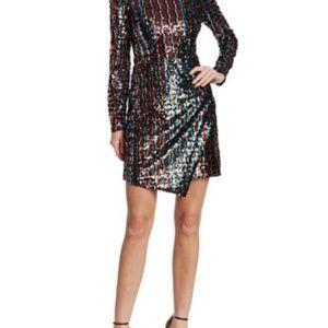 Anthropologie Dresses - ML Monique Lhuillier Striped Sequin Dress - SZ 4